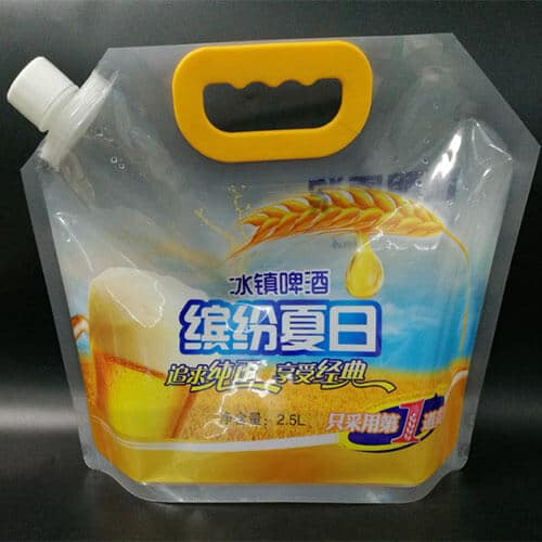 spoutpouch with handle