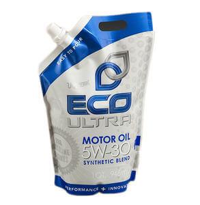 Motor oil packaging spout bag