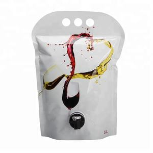 wine packaging pouch with valve