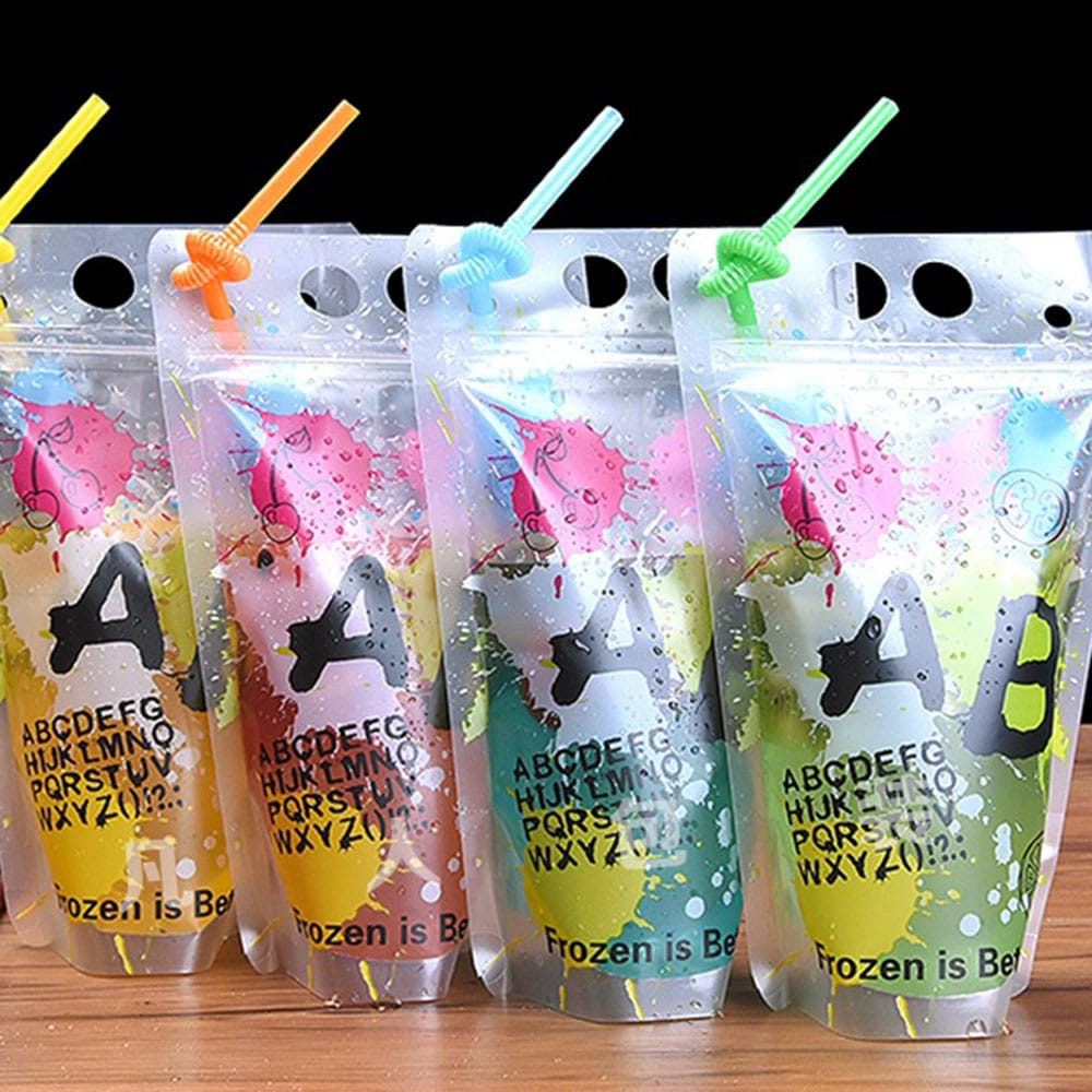 drink bags with straw