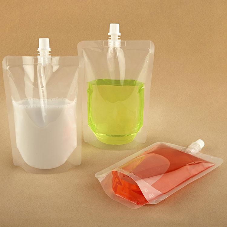 plastic pouches with spout